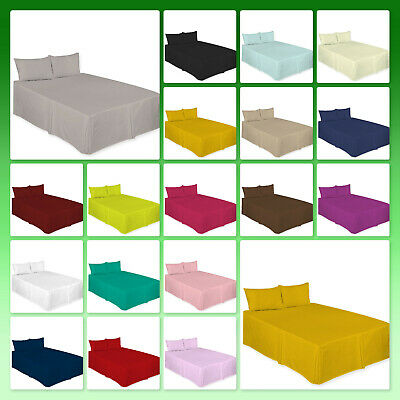 Plain Dyed PolyCotton Platform Base Valence Box Pleated Sheet, Attractive Colors