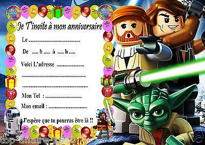 5 cartes invitation anniversaire lego star wars 01 eur 2 99 picclick fr. Black Bedroom Furniture Sets. Home Design Ideas