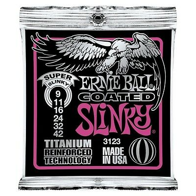 Ernie Ball 3123 Coated Slinky Titanium Electric Guitar Strings Free US Shipping!