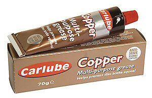 Carlube COPPER GREASE Large 70g Tube Multi Purpose Anti Seize Assembly Compound