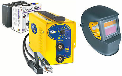 NEW Gysmi 160P Inverter Arc Welder + Free Auto Helmet