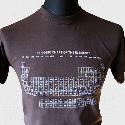 The Periodic Table of Elements T Shirt Brown