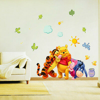 Winnie The Pooh & Friends Nursery/Childrens Room Wall Stickers PREMIUM PVC Decor