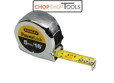 STANLEY 5m Powerlock Tape Measure 16ft with 3 Rivets STA033553