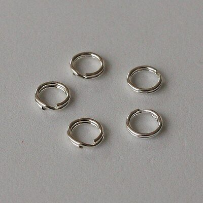 5 Strong Solid Sterling 925 Silver 6mm Split Jump Rings ADD CHARM TO BRACELET