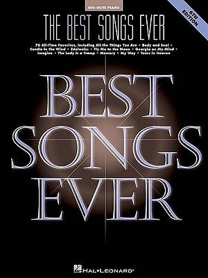 Best Songs Ever Big Note Piano 6th Edition