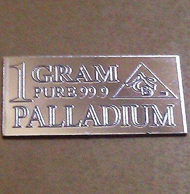 Palladium 99.9 Pure 1 GRAM Precious Metal ACB Very Rare Bullion PD Bar RARE $