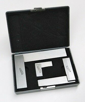 "Machinist Square 90º Right Angle Engineer's 3- Set DIN Standard 2"" 4"" 6"" iGaging"
