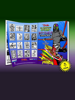 Official TNA Impact Wrestling Jeff Hardy 16 Page Colouring Book