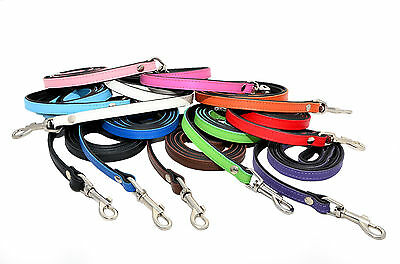 Real SOFT LEATHER DOG LEADS PADDED Handmade
