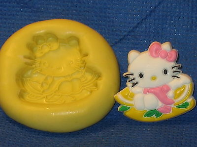 Hello Kitty Angel Push Mold Flexible Resin Clay Candy Food Safe Silicone  #524