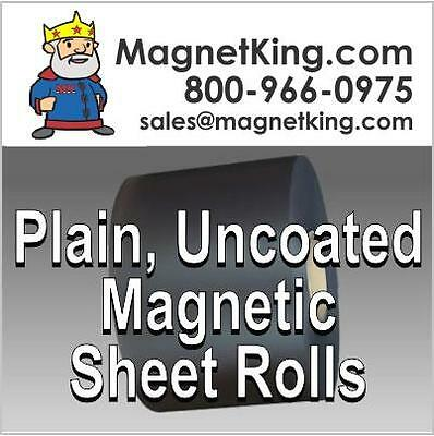 "Medium Thickness, .030 Plain Uncoated Flexible Magnet  HUGE  24"" x 50' Roll"