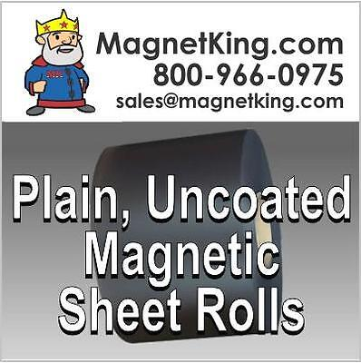 "Heavy Duty Magnetic Sheeting .060 Plain Uncoated Magnet 24"" x 25' Roll"