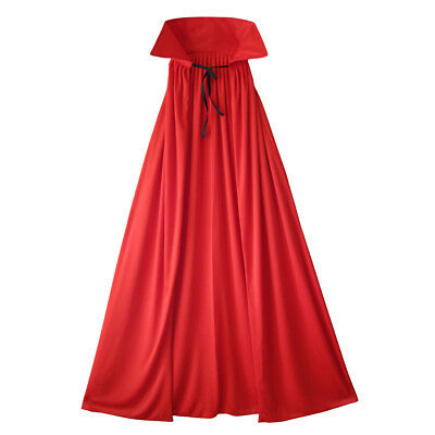 """54"""" Fully Lined Deluxe Adult Red Cape ~ HALLOWEEN DEVIL SUPERHERO COSTUME CAPE"""