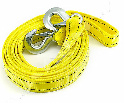 5 Tonnes 4.5M Tow Towing Pull Rope Strap Heavy Duty Road Car Recovery Set G31
