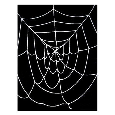 9.5' ft Deluxe Giant Black Spider Web ~ HALLOWEEN SCARY PARTY DECORATION PROP