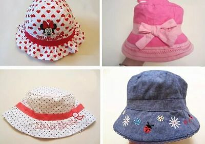 Baby Girls Kids Toddler Children Cotton Bucket Sun Hat Cap Wide Brim