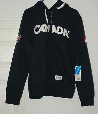 Canada Hbc Olympic Hoodie Sweater Mens Small Blue  Extremely Rare!!