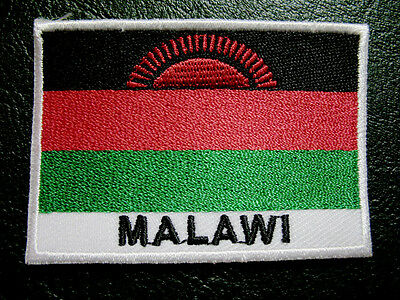 REPUBLIC OF MALAWI MALAWIAN NATIONAL FLAG Sew on Patch Free Shipping
