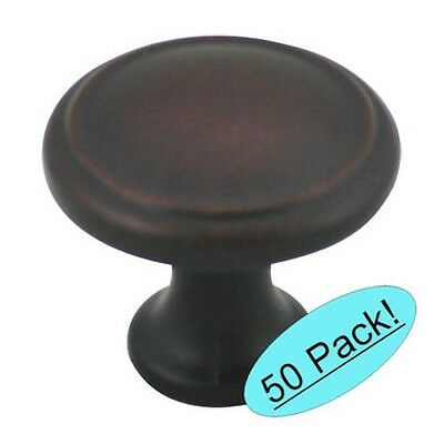 50 Pack* Cosmas Cabinet Hardware Oil Rubbed Bronze Round Knobs #5982ORB