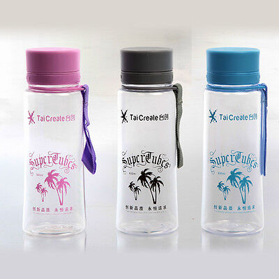 400ml Sports Drink Water Bottle With Carry Strap Twist Cap