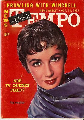 News Weekly News and Quick Tempo October 11, 1954 Elizabeth Taylor cover