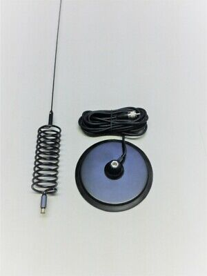 "Long Springer Tornado Stinger CB Antenna + 7 "" Turbo Magnetic  Mount   CB Aerial"