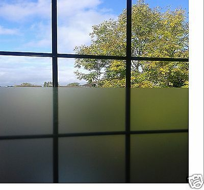 A4 Sht Etch Glass Silver Film Window Frosting Tint Air Free Sticky Back Plastic