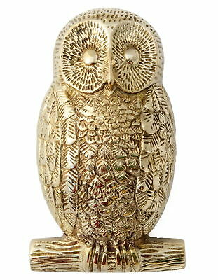 Solid Brass Owl Door Knocker - heavy antique & vintage animal door knockers