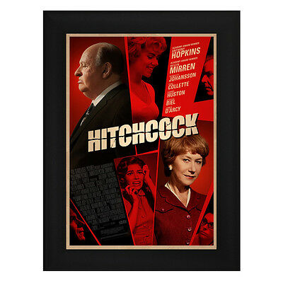 HITCHCOCK Framed Film Movie Poster A4 Black Frame Anthony Hopkins Helen Mirren