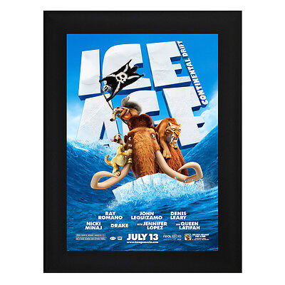 ICE AGE 4 Continental Drift Framed Film Movie Poster A4 Black Frame Ray Romano