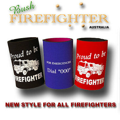 Stubbie Holder Proud to be a Firefighter