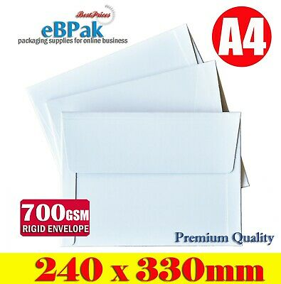 25x RIGID Mailer 240x330mm - A4 size Document  -  700gsm Hard Envelope