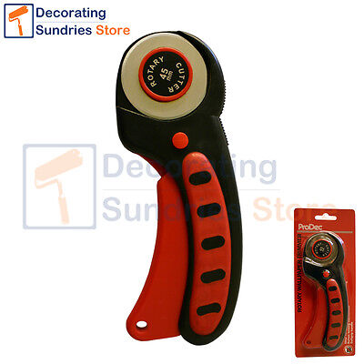 Prodec Rotary Wallpaper Trimmer / Cutter | Vinyl Trimming Tool Free Spare Blade