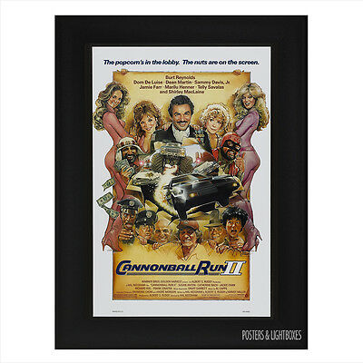 CANNONBALL RUN 2 Framed Film Movie Poster A4 Black Frame
