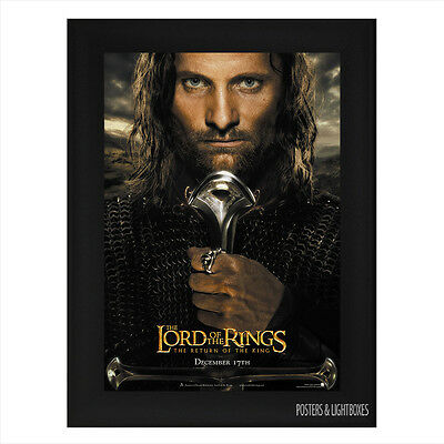 LORD OF THE RINGS RETURN OF THE KING ARAGORN Framed Movie Poster A4 Black Frame