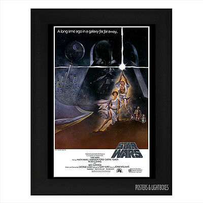 STAR WARS A NEW HOPE Framed Film Movie Poster A4 Black Frame