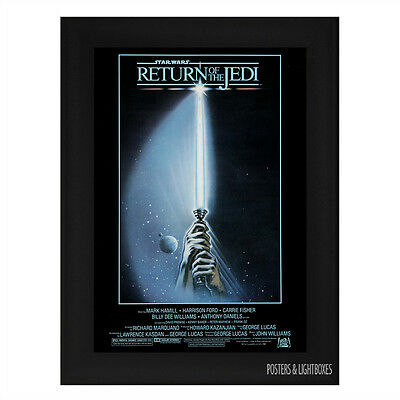 STAR WARS RETURN OF THE JEDI Ref 04 Framed Film Movie Poster A4 Black Frame