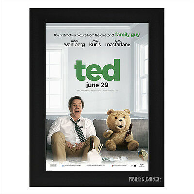 TED THE MOVIE Framed Film Movie Poster A4 Black Frame