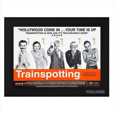 TRAINSPOTTING Ref 01 Framed Film Movie Poster A4 Black Frame