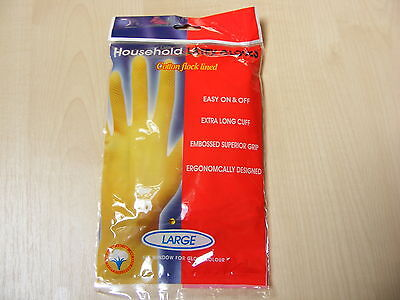 1 Pair Large Latex Washing Up Gloves / Rubber Gloves For Kitchen