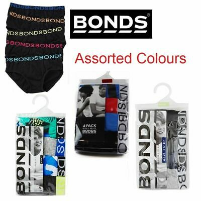 New Bonds Kids Boys Underwear 4 Pack Undies Childrens Jocks Brief Boy Briefs