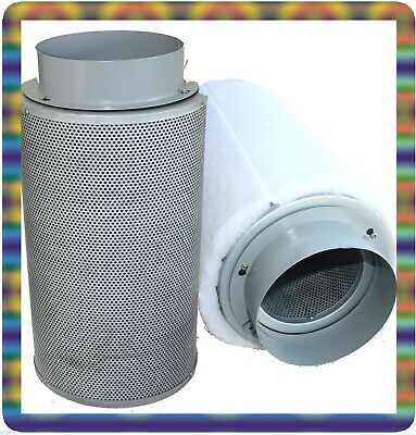 "6""  Hydroponic Inline Exhaust Air Carbon Filter Scrubber Grow System Supply"