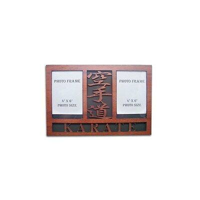 Karate Wooden Double Photo Frame Display Item:08438 Martial Arts Gifts