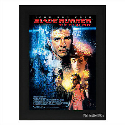 BLADE RUNNER Ref 02 Framed Film Movie Poster A4 Black Frame
