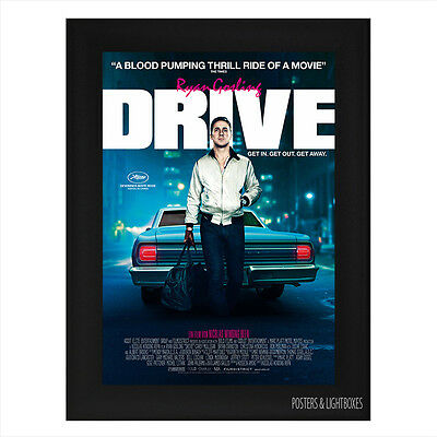DRIVE RYAN GOSLING Ref 02 Framed Film Movie Poster A4 Black Frame