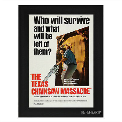 THE TEXAS CHAINSAW MASSACRE Framed Film Movie Poster A4 Black Frame