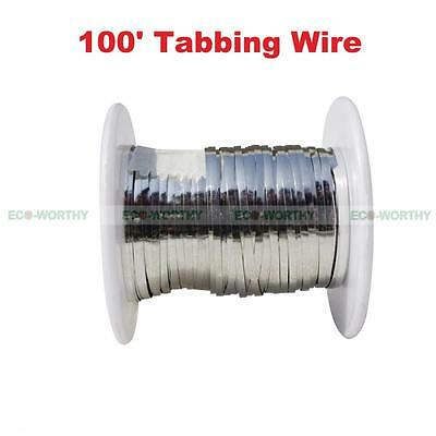 100 feet TABBING WIRE for Solar Cell Pre soldered