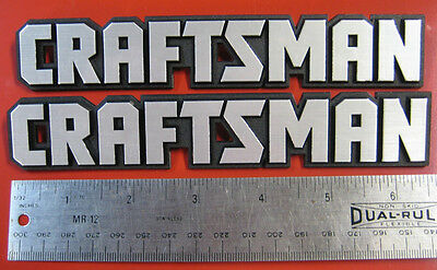 "Set of 2:Craftsman Tool Box Badge:6 5/8"",Chest/Cabinet Emblem,Decal,Sticker,Logo"