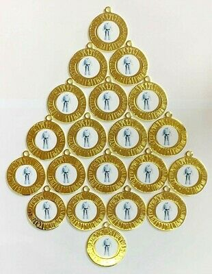 20 X Martial Arts Medals - Gold  With Ribbons